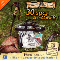 Sac personnnalise jeu concours pirates of print
